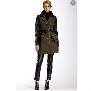 Rachel Zoe Double Breasted Military Trench Size 8